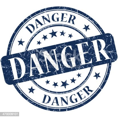 istock Danger Blue stamp 470009101