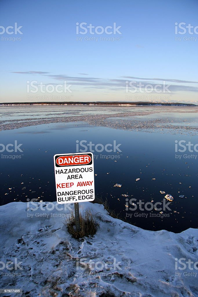 Danger Bluff royalty-free stock photo