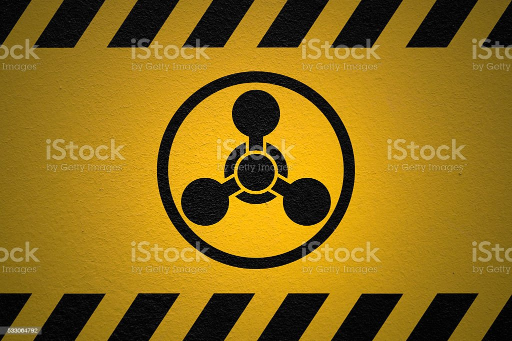 Danger Chemicals sign stock photo
