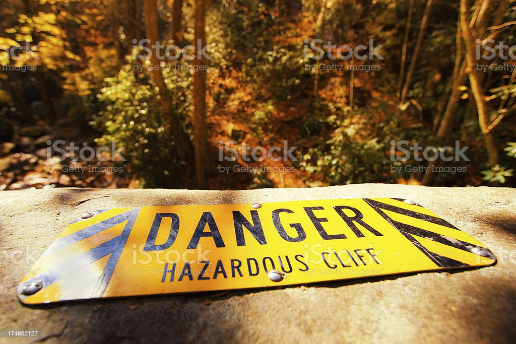 Danger Cliff royalty-free stock photo