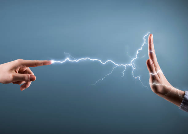 ELECTRICITY STRAINGHT / Danger concept  (Click for more) stock photo