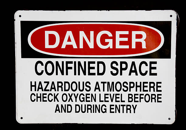Danger confined space sign  confined space stock pictures, royalty-free photos & images
