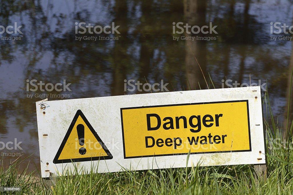 Danger - Deep Water stock photo