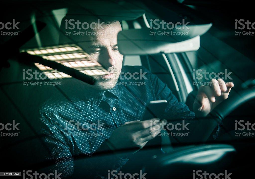 Danger driving royalty-free stock photo