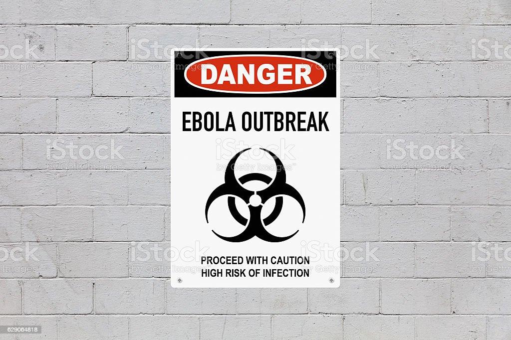 Danger - Ebola outbreak stock photo