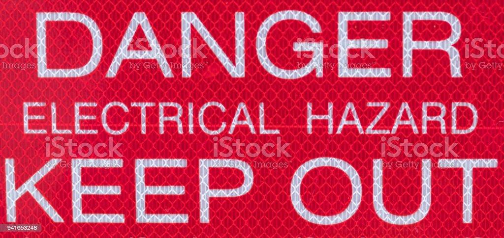 Danger Electrical Hazard Sign stock photo