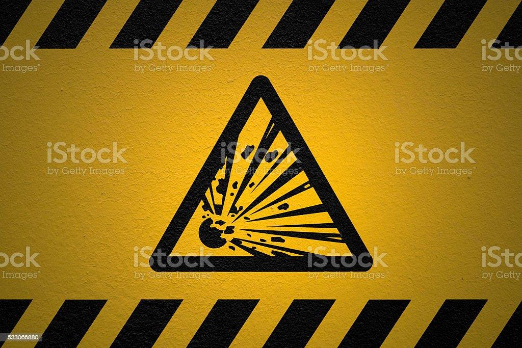 Danger Explosive sign stock photo