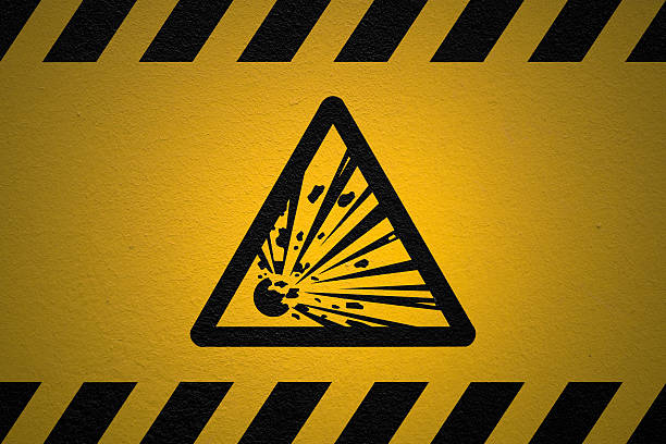 Danger Explosive sign Black  explosive stock pictures, royalty-free photos & images