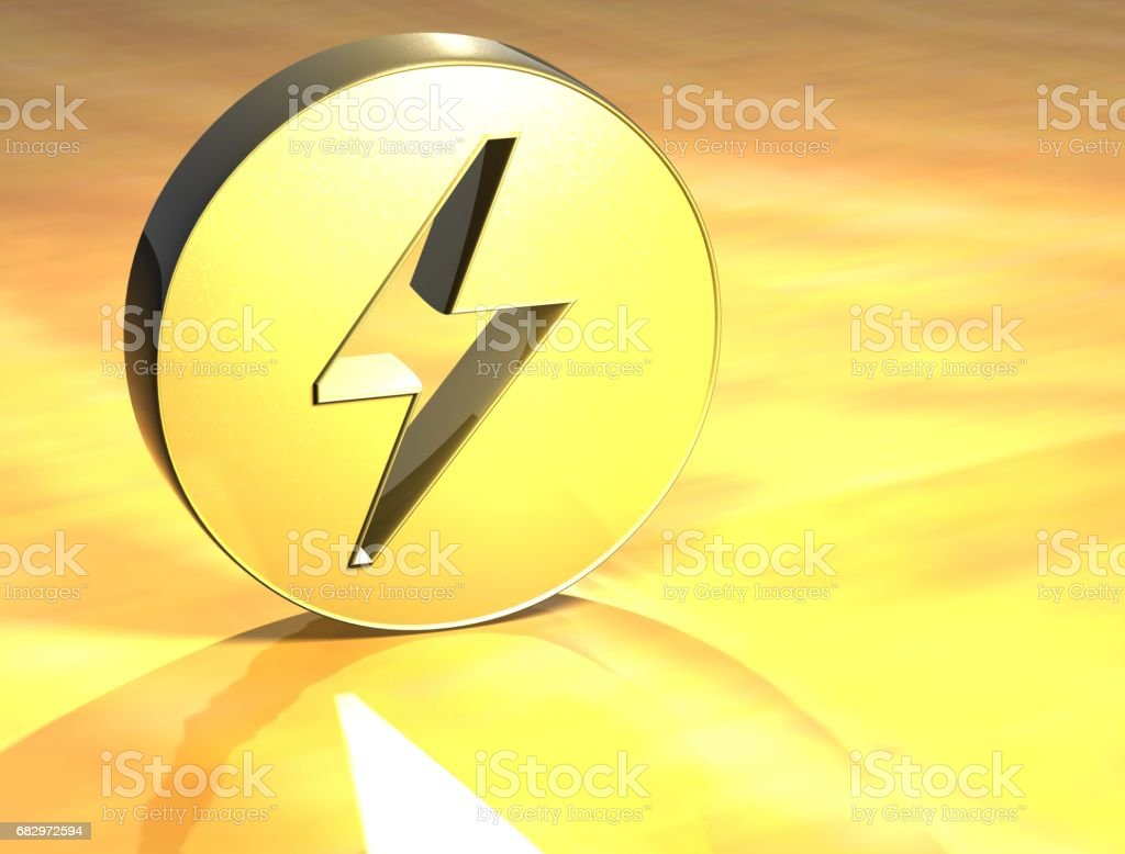 3D Danger Gold Sign royalty-free stock photo