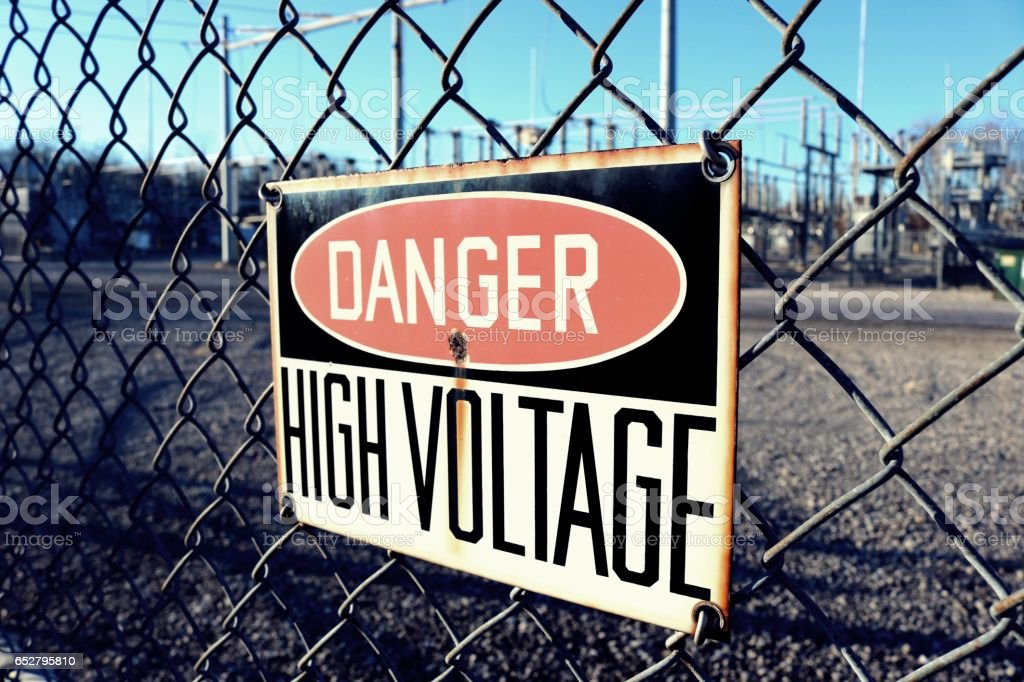 'Danger High Voltage' stock photo
