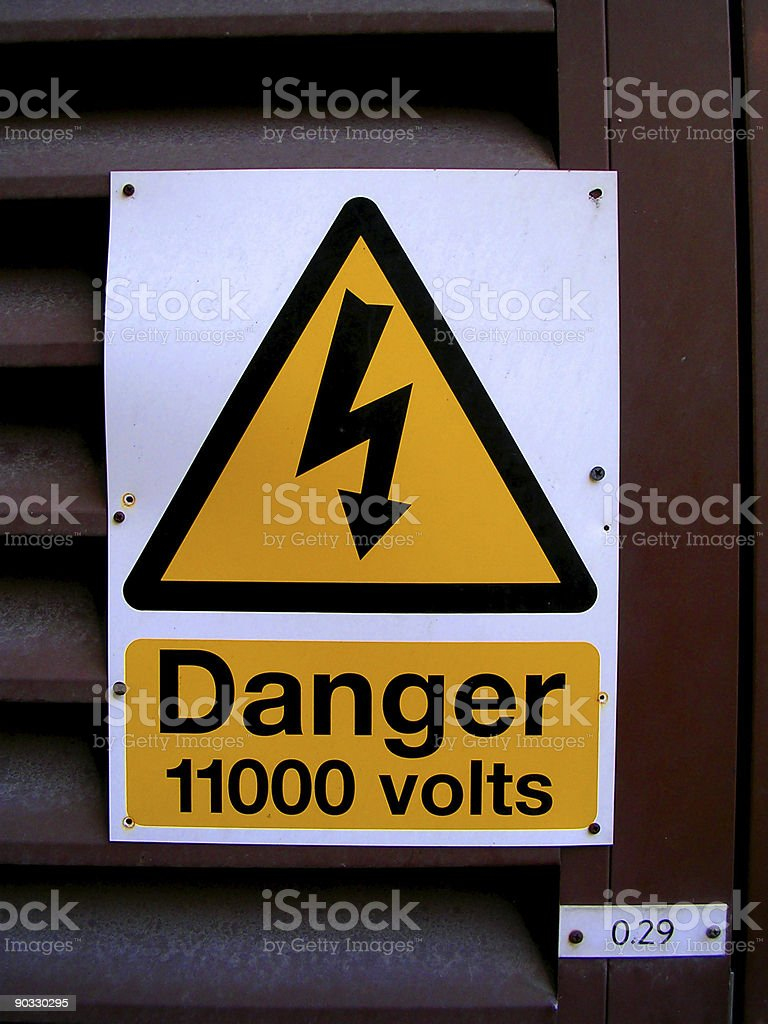 Danger! High Voltage royalty-free stock photo