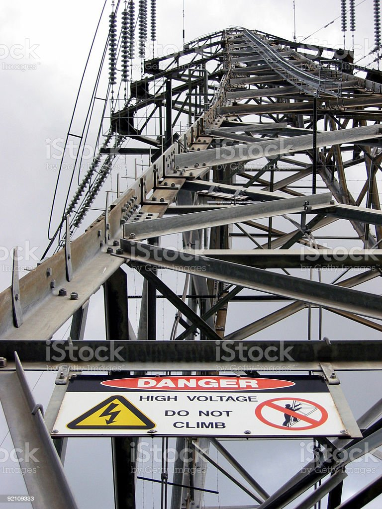 Danger High Voltage royalty-free stock photo