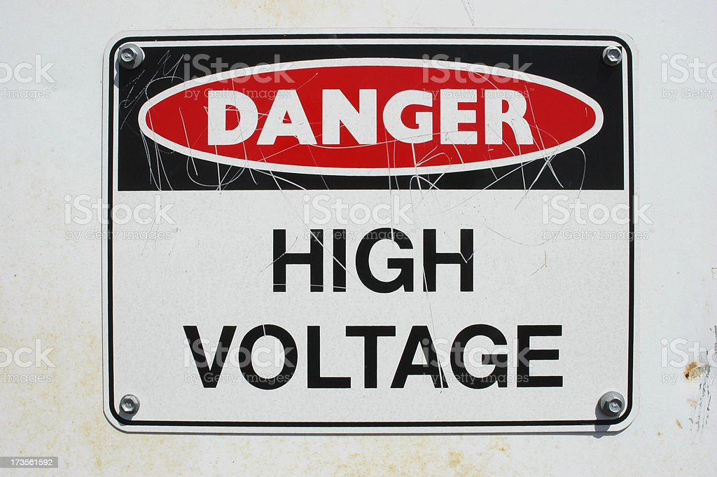 Danger - High Voltage. Sign royalty-free stock photo