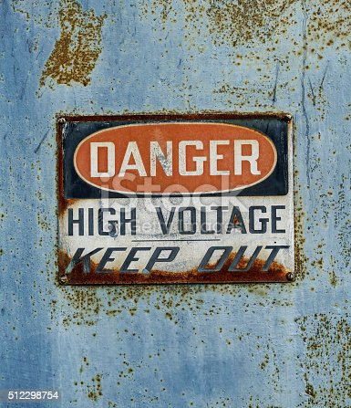 Danger High Voltage Warning Sign Stock Photo Istock
