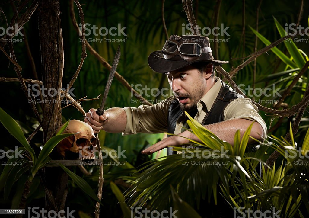 Danger in the jungle stock photo
