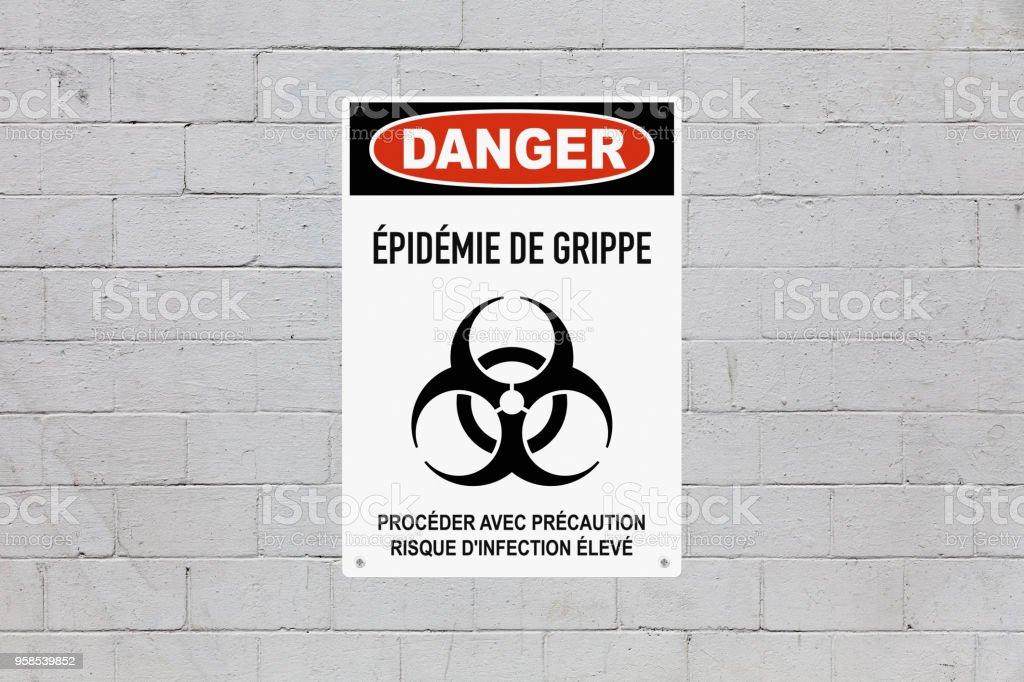 Danger - Influenza outbreak stock photo