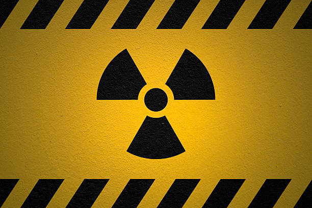 Danger Ionizing Radiation Sign Black  radioactive contamination stock pictures, royalty-free photos & images