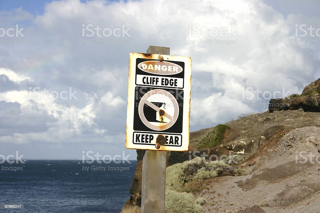 danger - keep clear royalty-free stock photo