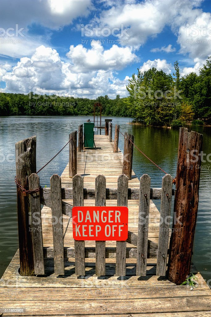 Danger Keep Off stock photo