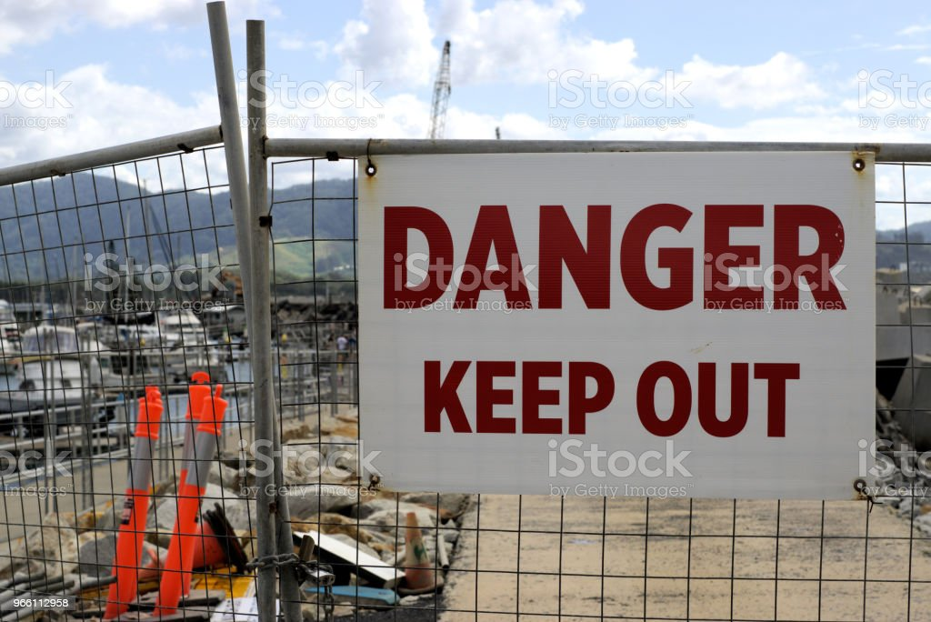 Danger Keep Out at construction site in Australia - Royalty-free Australia Stock Photo