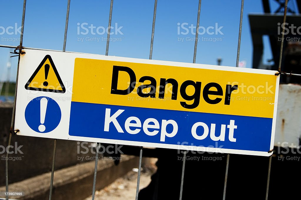 Danger - Keep out royalty-free stock photo