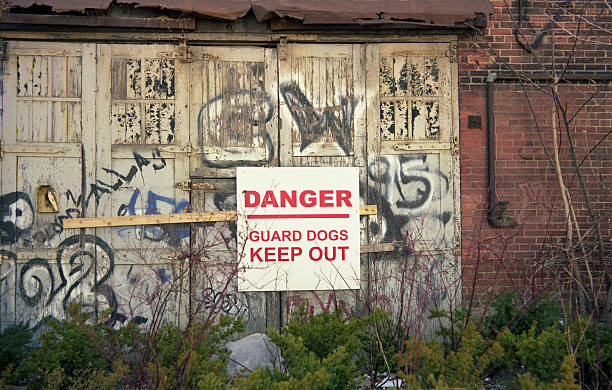 Danger Keep Out!! stock photo