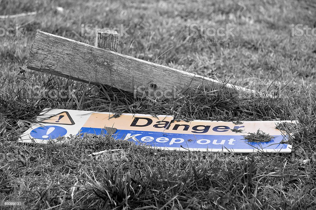 Danger keep out sign royalty free stockfoto