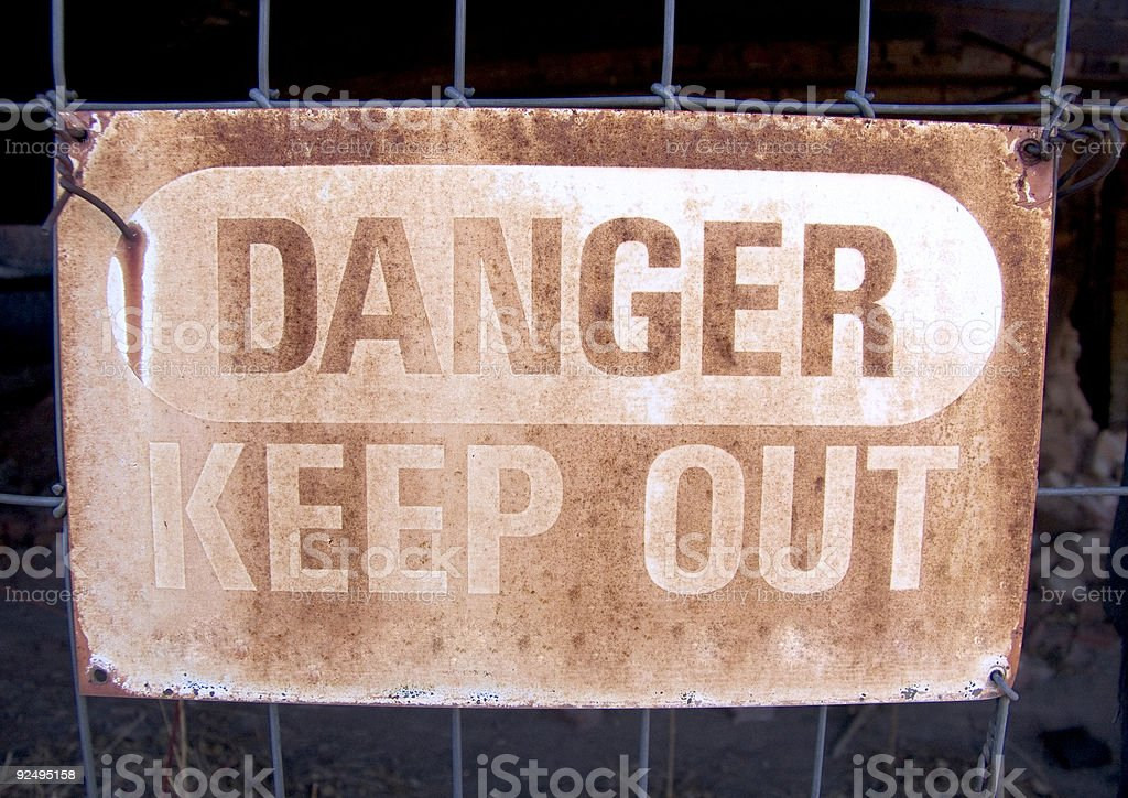 Danger Keep Out Sign royalty-free stock photo