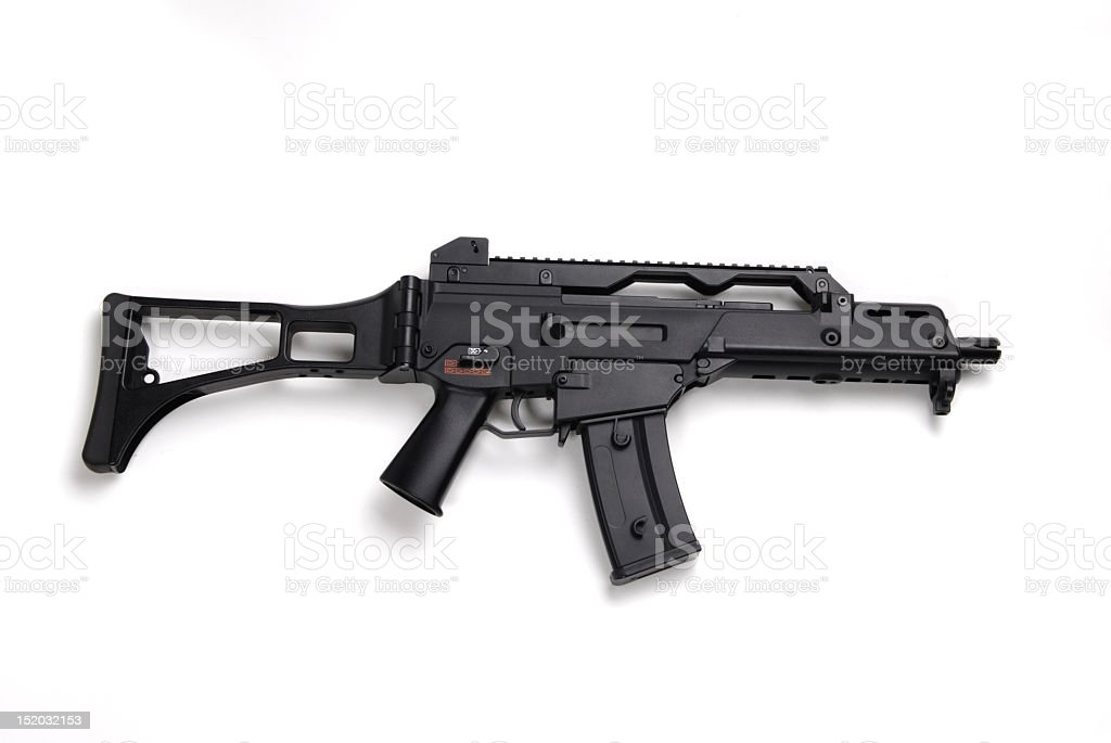 Danger, Machine Gun stock photo