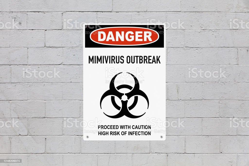 Danger - Mimivirus outbreak - Royalty-free Biohazard Symbol Stock Photo
