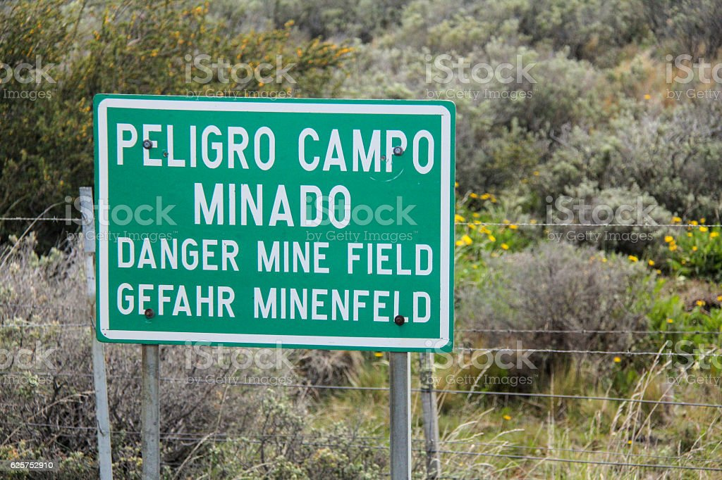 Danger!  Mine Field stock photo