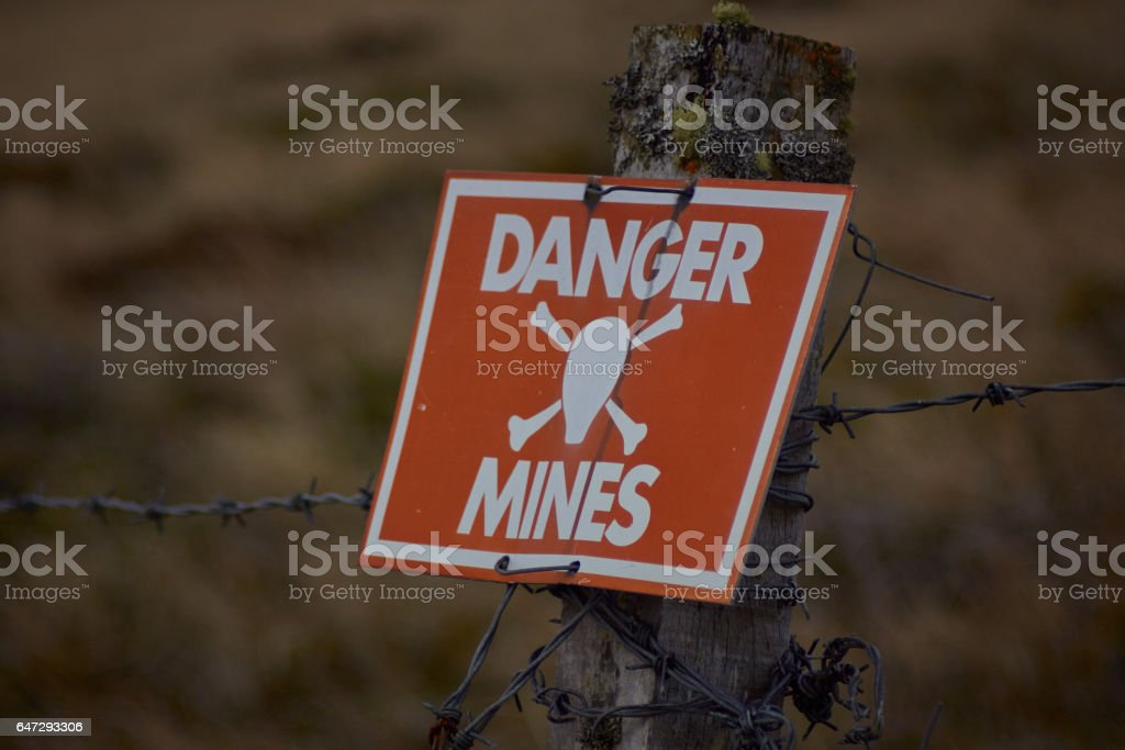 Danger Mines!! stock photo