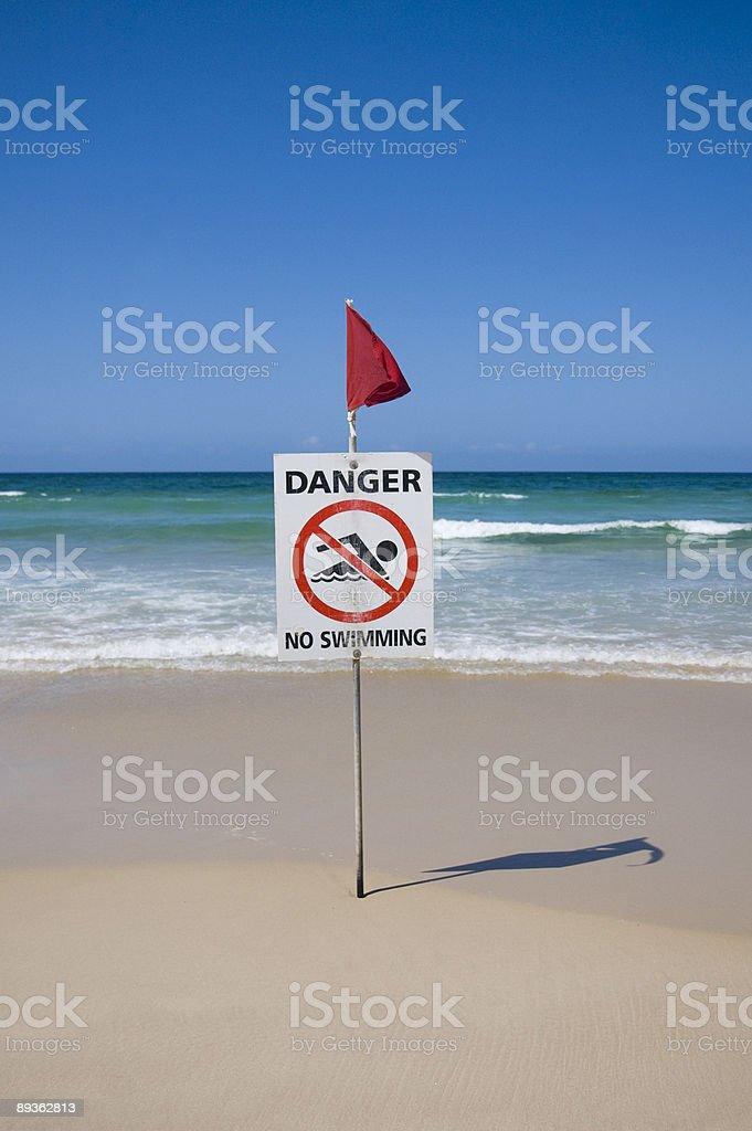 Danger. No Swimming royalty-free stock photo