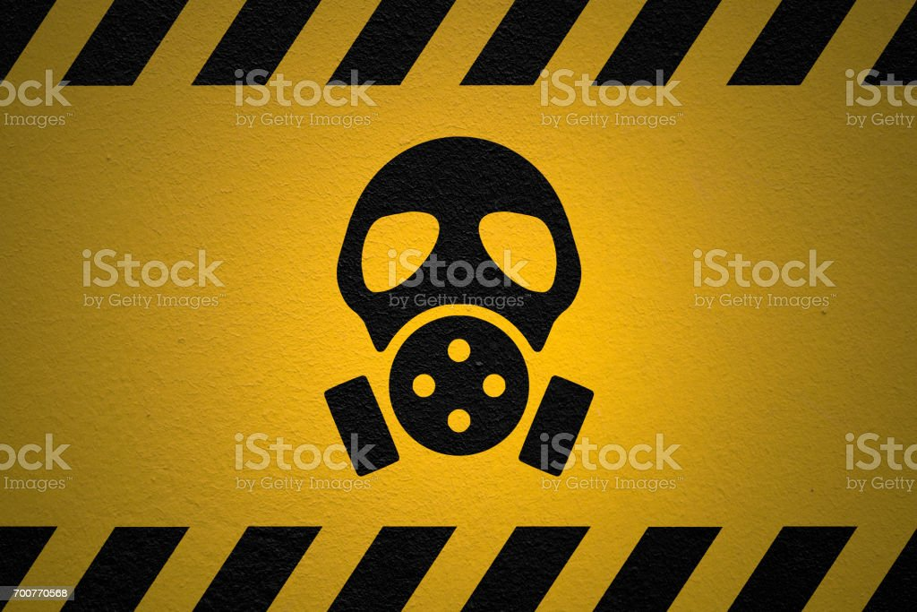 Danger Nuclear fallout sign stock photo