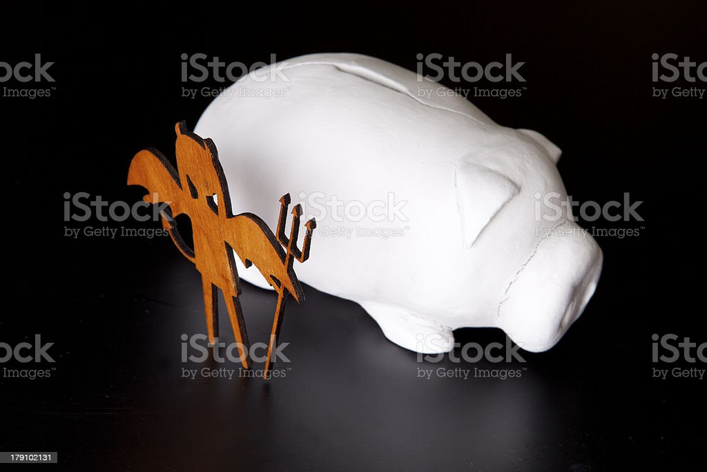 danger of coin bank royalty-free stock photo