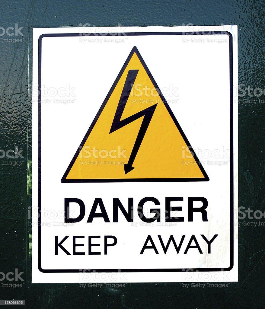 Danger or electric shock sign