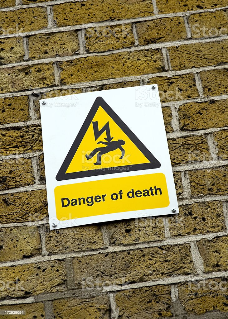 Danger of death - sign royalty-free stock photo