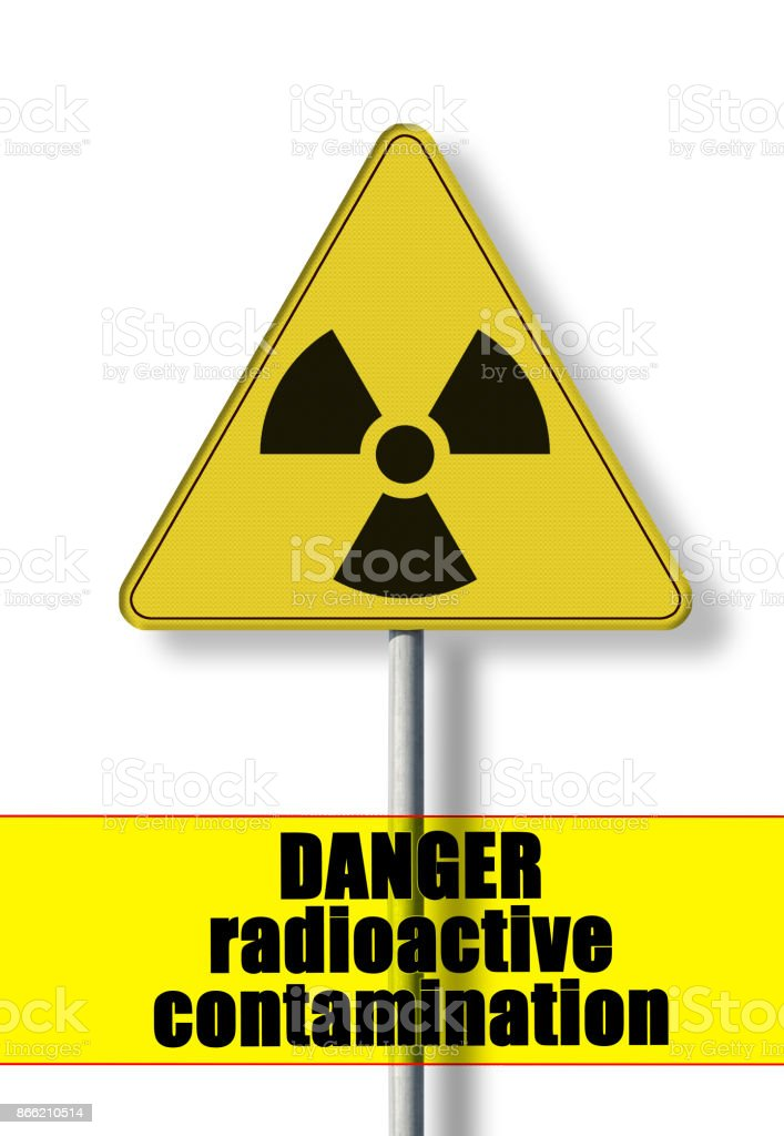 Danger Of Radioactive Contamination Concept Image With Symbol Of
