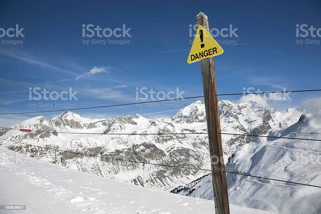 Danger Off-piste sign stock photo