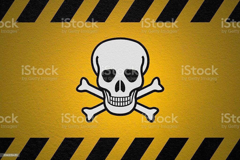 Danger Poison Sign stock photo