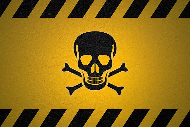 위험 포이즌 팻말 - 독성 물질 뉴스 사진 이미지