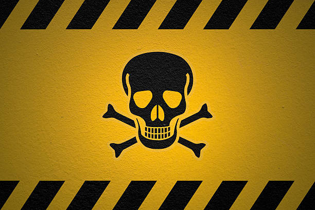Danger Poison Sign stock photo