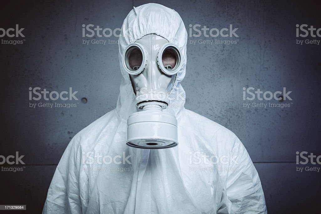 Danger: radioactive attack stock photo
