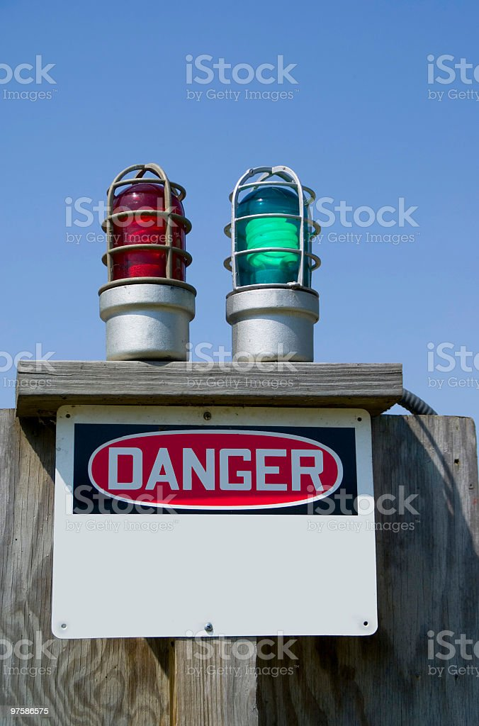 Danger -  red and green lights royalty-free stock photo