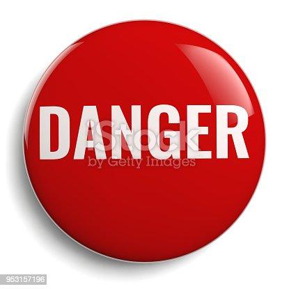 istock Danger Round Red Symbol Isolated 953157196