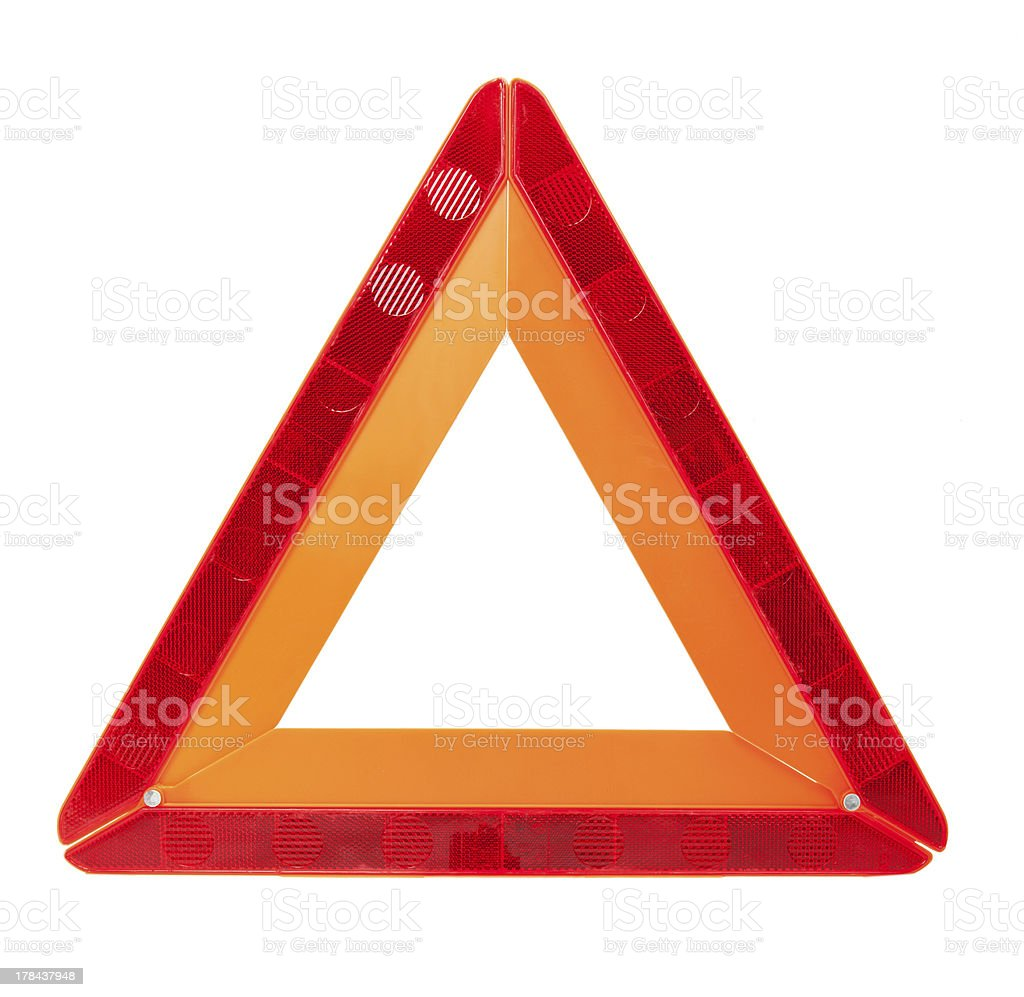 Danger Safety Warning Triangle Sign stock photo