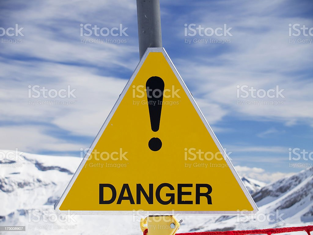 Danger sign royalty-free stock photo