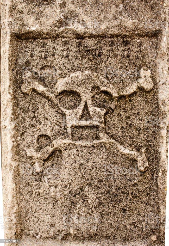 danger sign with skull and crossbones - foto de stock