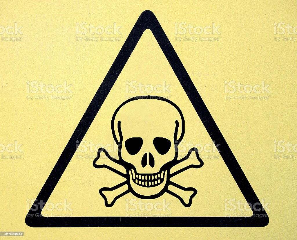 Danger Sign With Skull Symbol Stock Photo More Pictures Of