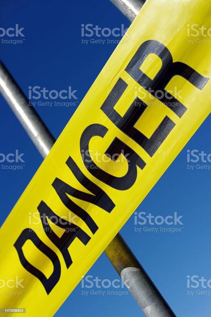 Danger tape stock photo